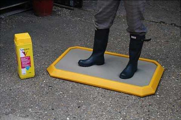 Large Personnel Disinfectant Mat Yellow Horse Requisites