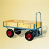 4 WHEEL TURNTABLE TROLLEY WITH SLIDE-IN SIDES